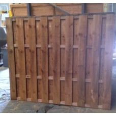 Double Palisade Fence Panel Tanatone