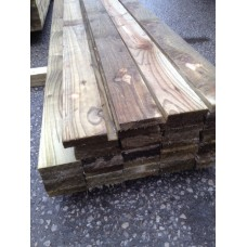 "4"" x 1"" Tanalised Rough Sawn"